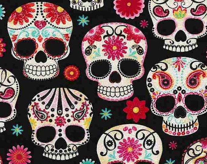 Featured listing image: Sugar Skulls, 4139, Timeless Treasures, Timeless Treasures, cotton, cotton quilt, cotton designer