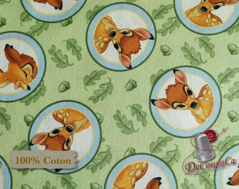 Bambi, Disney, Springs Creative Products, multiple quantity cut in one piece, 100% Cotton, (Reg 3.99 - 17.99)