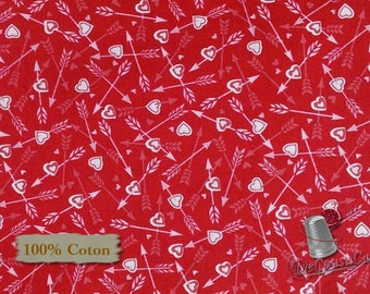 Cupidon, Dear Heart, Studio e, 3593, multiple quantity cut in one piece, 100% Cotton