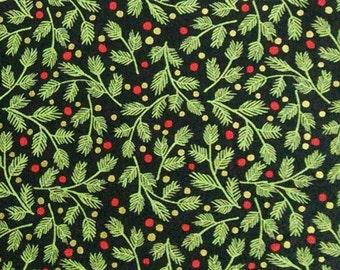 Mistletoe, Black, Andover, 9100, fabric, cotton, quilt cotton