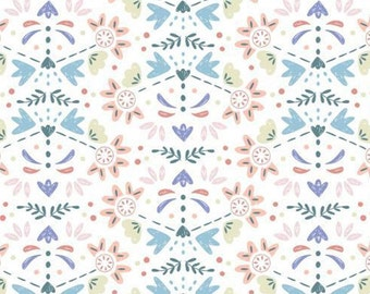 Blossoming flower buds, Turtle Cove, 21190602, col 03, Camelot Fabrics, 100% Cotton
