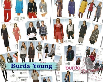 12 models, Burda Young, girl, 6-20, new, uncut, (Reg 6.99-14.99)