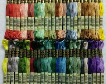 DMC, 347-554, Embroidery, thread, DMC, Mouliné 25, art 117 No. 25, 8 meters each skein, cotton, (Reg 1.68)