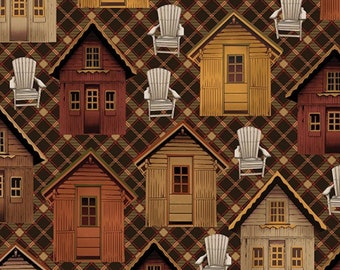 Cabin life dark walnut, Lodge Life, 8973, col 78, Benartex, cotton, cotton quilt, cotton designer