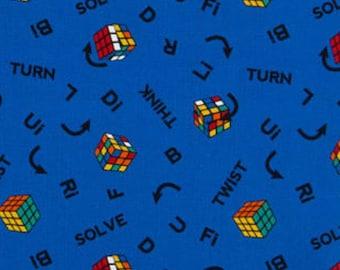 Cube, Rubiks, 47010101, col 02, I Love Rubiks, Twist & Turn, Camelot Fabrics, cotton, cotton quilt, cotton designer