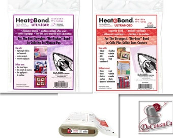 HEATNBOND Ultra, or lite, Hold Iron-On Adhesive, by the yard