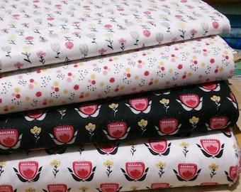 Bundle, 4 prints, Field of Poppies, Camelot Fabrics, Cotton, quilt cotton