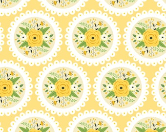 Bright Side, flower, 2240905, col 01, Camelot Fabrics, multiple quantity cut in 1 piece, Cotton