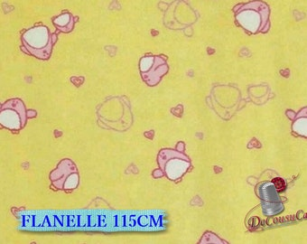 Flannel, Chick, yellow, Camelot Fabrics
