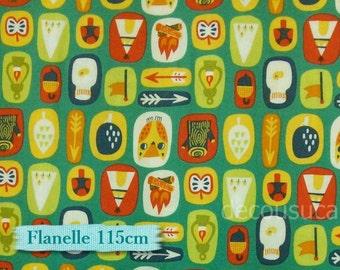 """Fat quarter, 18""""X22"""" = 45cm X 55cm, Flannel, Happy Camper, 8140402, Camelot Cotton, 100% Cotton"""