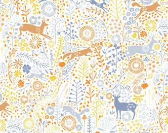 Forest animals, Meadow Wildlife, 30190401, col 04, Camelot Fabrics, cotton quilt, cotton designer
