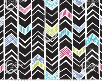 Chevrons, black, Mod Blocks, 27180110, col 01, Camelot Fabrics, 100% Cotton, quilt cotton, (Reg 2.99-17.99)