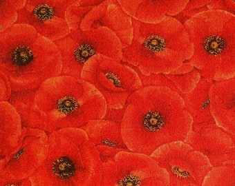 Tuscan Poppies, 5838, Timeless Treasures, 100% Cotton