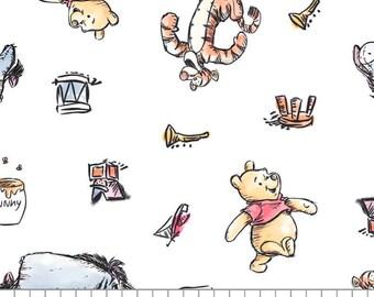 Winnie The Pooh, 85430502, col 01, Camelot Fabrics, cotton, cotton quilt, cotton designer