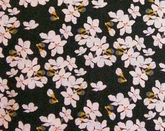 Flower, black, 29190102, col 02, Black Swan, Camelot Fabrics, 100% Cotton