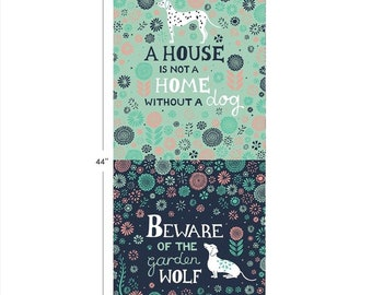 "Panel, Dog, 18""X44"", 30180208P, Urban Jungle, Camelot Fabrics, 100% Cotton"