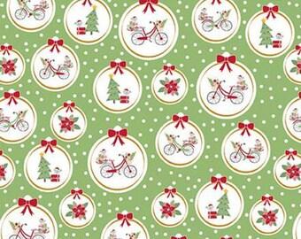 Christmas Adventure, Riley Blake Designs, Christmas fabric 100% cotton, #10732 GREENSMOOTHIE