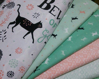 Bundle, 5 prints, CAT, Jungle Urban of Camelot Fabrics, Quilt cotton