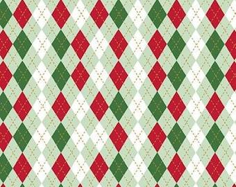 Christmas Adventure, Riley Blake Designs, Christmas fabric 100% cotton, #10736 SWEETMINT