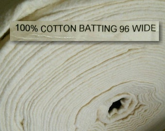 Batting, 96 po, (240cm), 100% cotton for indoor quilts, wadding, fleece, cotton kodell, flock, thin, quilted at 4 to 6 inches