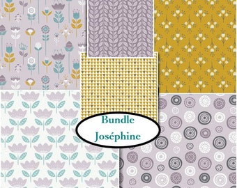 Kit 6 prints, choose your format, 1 of each print, Joséphine, Bundle