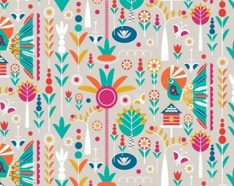 Birds of Paradise, white, 28170101, col 02, Camelot Fabrics, 100% Cotton, quilt cotton, (Reg 2.99-17.99)