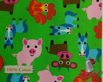 Farm, by French Bull, Windham Fabrics, 42166, multiple quantity cut in one piece, 100% Cotton