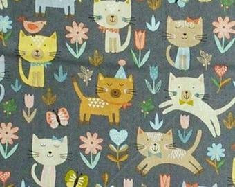 Cats, Cool Cats, Makower, 2183, Camelot Fabrics, cotton, cotton quilt, cotton designer