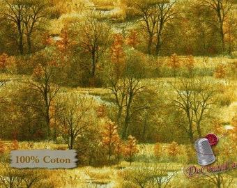 VENTE, Trees, Hautman Courtesy, Quilting Treasures, multiple quantity cut in one piece, 100% Cotton