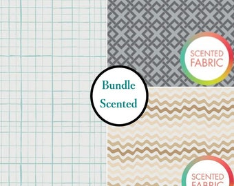 Bundle, 3 prints, Scented, Camelot Fabric, tide, 1 of each print