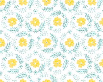Floral Wreath, Flutter & Buzz, 6141803-03, Camelot Fabrics, multiple quantity cut in one piece, 100% Cotton