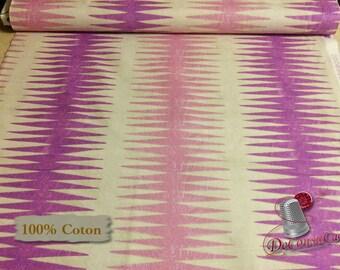 Dreamer, pink, mauve, cream, 100% coton, Windham Fabrics, Dreamer, by Carrie Blomston, 42571, Pueblo Stripe