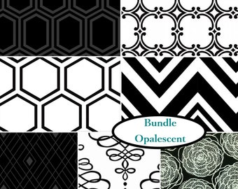 Bundle 7 prints, 1 of each, Opalescent, Camelot Fabrics, 100% cotton,