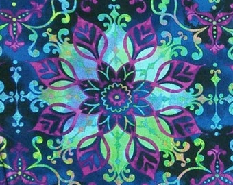 Big Flower, Aflutter, Elizabeth Isles, Studio e, 3914, multiple quantity cut in one piece, 100% Cotton, (Reg 2.99-17.99)