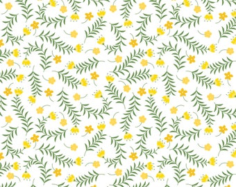 Bright Side, flower, 2240904, col 02, Camelot Fabrics, multiple quantity cut in 1 piece, Cotton