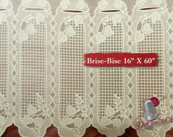 "Brise-Bise, Beige, 16"" X 60"", (40cm X 150cm), NO NEED for COUTURE, polyester, washable, decorative, (Reg 22.49)"