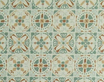 Tile, sage, 66180205, col 02, Autumn Impressions, Camelot Fabrics, cotton, cotton quilt, cotton designer