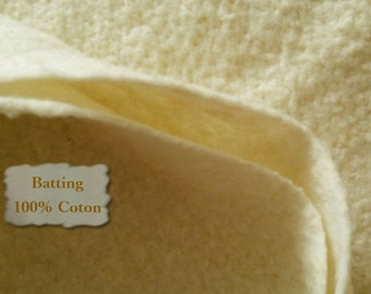 10 squares, Batting, 100% cotton for indoor quilts, wadding, fleece, cotton kodell, flock, thin, quilted at 4 to 6 inches
