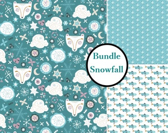 Color choice, Snow Fall, Narwhal, 4240402, Camelot Fabrics, 100% Cotton