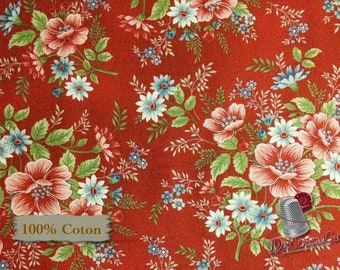 30%, Flowers of provence, by Mary Carey of Holly Quilt Designs, Henry Glass, #8848, Cotton, (Reg 3.99 - 17.99)