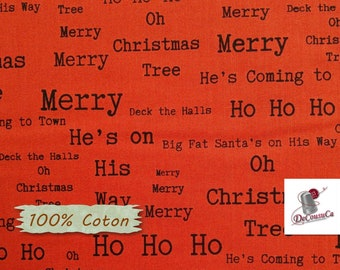 Around Town Christmas, red, Studio E, 3720, multiple quantity cut in one piece, 100% Cotton, (Reg 2.99-17.99)