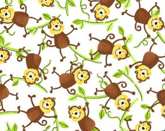 Monkey, Jungle Camp, 3862, Studio E, multiple quantity cut in 1 piece, 100% Cotton