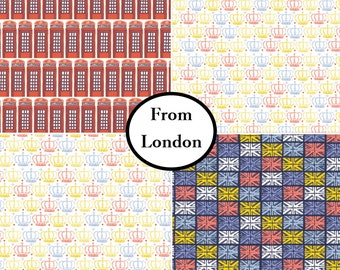 Bundle, 4 prints, From London with Love, Vicky Yorke, Camelot Fabrics, 100% Cotton, quilt cotton