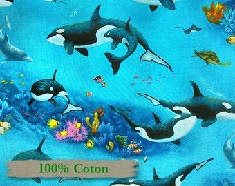 Elizabeth's Studio, 6101, Whale, 100% Cotton