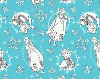 Disney, Reine des Neiges, 85190203, col 03, Frozen Coloring Collection, 100% Cotton