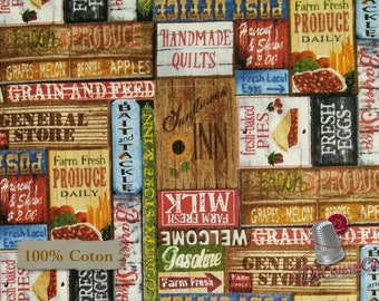 Label, Country Paradise, 9356, Blank Quilting, multiple quantity cut in 1 piece, 100% Cotton, (Reg 2.99 - 17.99)