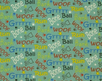 Woof, Édition Fabric, multiple quantity cut in one piece, 100% Cotton