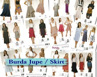 70%, 12 models, Burda, Skirt, 6-28, new, uncut,