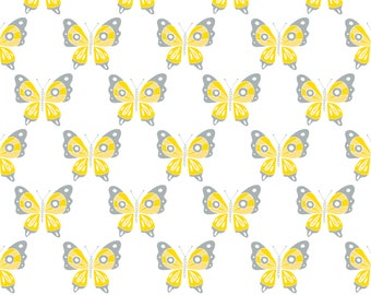 Butterfly, Flutter & Buzz, 6141805-01, Camelot Fabrics, multiple quantity cut in one piece, 100% Cotton, (Reg 3.99 - 17.99)