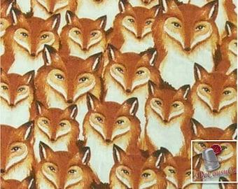 Fox, 100% coton, Windham W Fabrics, Wild Woods, 41124, (Reg 2.99-17.99)